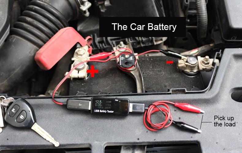 Aukštos kokybės CAR USB testerio įtampos srovės galios tikrinimo - Matavimo prietaisai - Nuotrauka 5