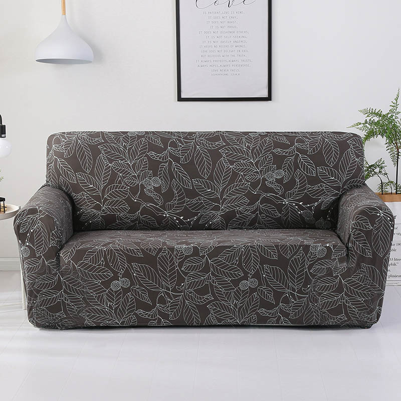 Spandex Slipcovers kanapéfedel Elasztikus feszes csomagolás All-inclusive formájú kanapéfedél Stretch bútorhuzatok 1/2/3/4 üléses 1PC