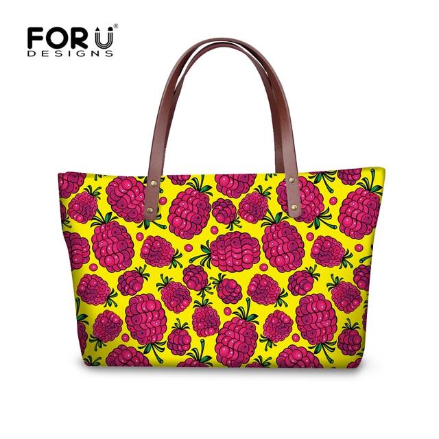 Preppy Style Women Handbag Fruits Strawberry Print Female Shoulder Bag Famous Brand Designer Tote Bolsos Feminina Women Handbags