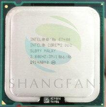 Intel CPU Core2 DUO E7400 SLB9Y SLGQ8  Intel Core 2 Duo E7400  Processor(2.8GHz/ 3M /1066MHz)Desktop LGA775