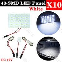 Super Bright T10 Ba9s Festoon 48 LED 3528 1210 SMD White Car Auto Dome Interior Panel