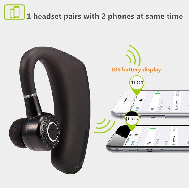 Leegoal V9 Handsfree Wireless Bluetooth Earphones Noise: V9 Handsfree Wireless Bluetooth Earphones Noise Cancelling