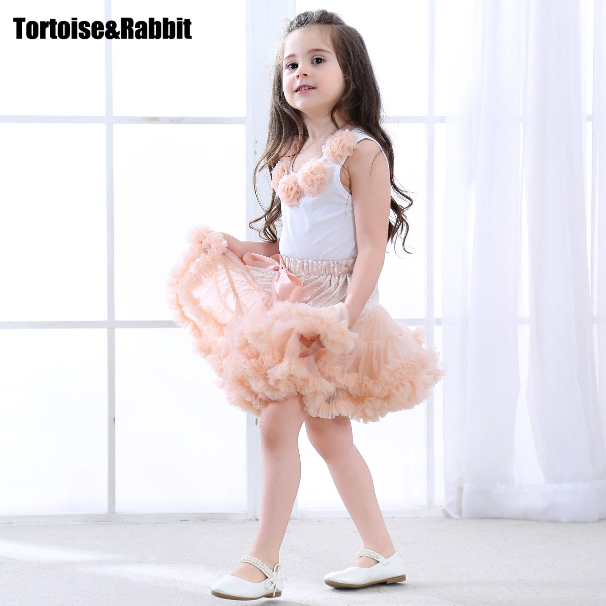 Girls Clothes Set Sport Suit Pettiskirt Sets 2Pcs Kids Floral Fluffy Tutu Skirt & Vest Princess Birthday Party Ballet Dance Wear
