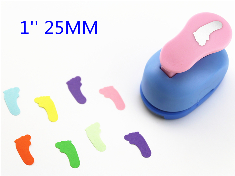 Free Ship Foot 1'' 25mm Diy Craft Punch Hole Punch Scrapbook Paper Cutter Hole Punch Child Embosser Device Perfurador S2992