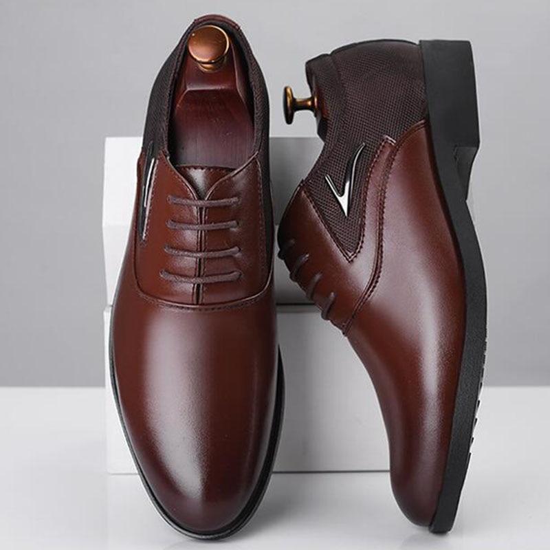 Robe Oxford Mâle up Big Taille Party marron Formelle Qualité Noir Hommes 38 Brogues Dentelle Haute 44 Lk 48 Chaussures Plus D'affaires wSvFB8Scq
