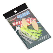1pcs Trulinoya brand 7g/10g Spinner Bait with Brass Fishing Spoon Lure Metal Jig Jigging lure Swimbait Spinnerbait