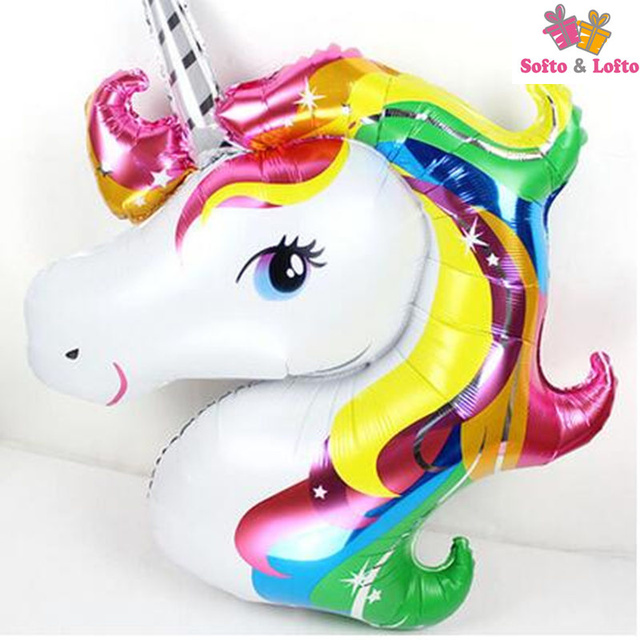 Large Unicorn Balloons,125cm Party Decorations For Child Kids Princess  Girls 3D Foil Balloons Pretty