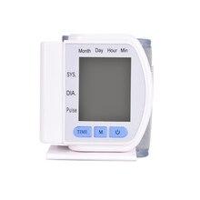 1 unids Pantalla LCD Digital de Muñeca Monitor de Presión Arterial En Casa Cuidado de La Salud del Metro de Pulso Automático Muñeca Esfigmomanómetro