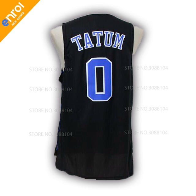 Men Cheap Jayson Tatum Basketball Jerseys 0  Duke University Blue Devils  Throwback Stitched Embroidery Retro High Quality Shirts e14b3a465