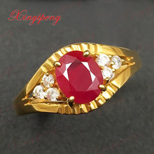 18 k gold, platinum natural ruby ring women give valuable color more than 1 carat gem The real thing to send mother