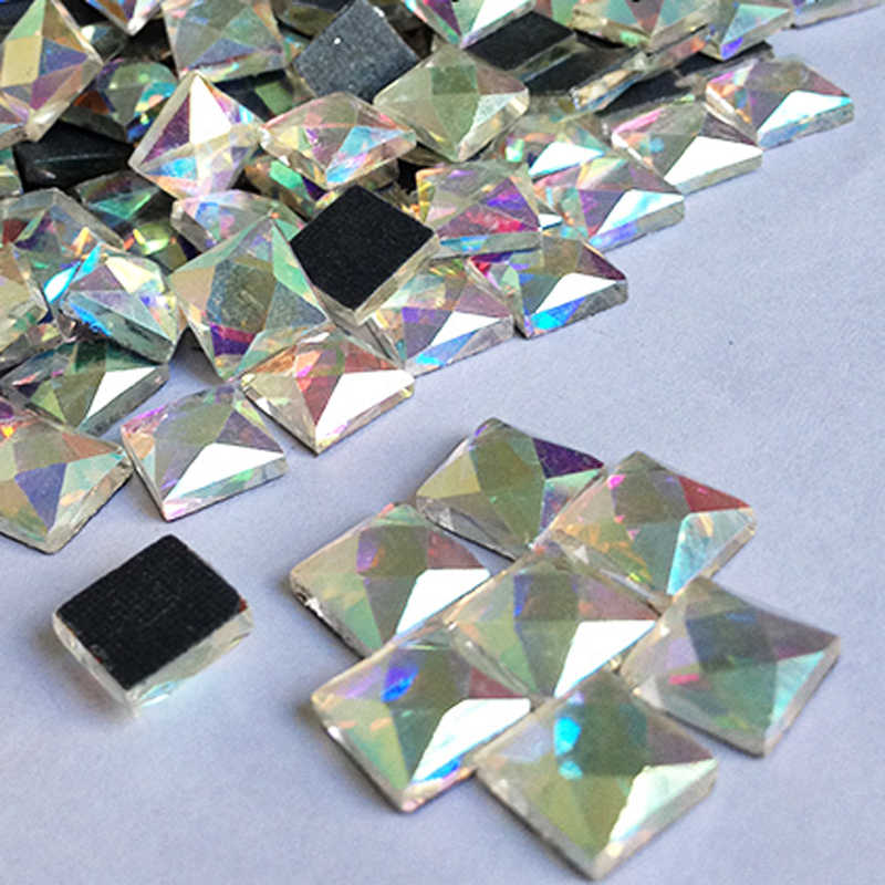 Detail Feedback Questions about 2017 HOT Square 6X6mm 110pcs   Lot Clear AB Crystal  Stones HotFix FlatBack Rhinestones Glass Strass 16a36dbf782f