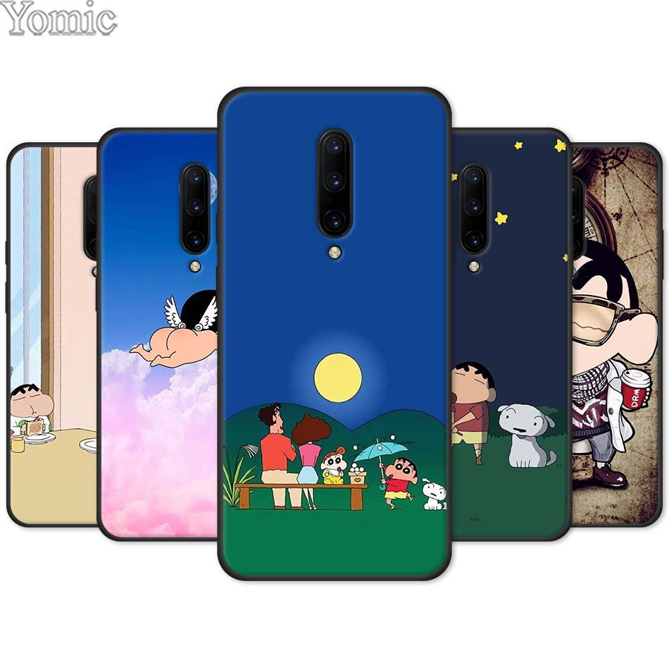 Cute Crayon Shinchan Black Case for font b Oneplus b font font b 7 b font