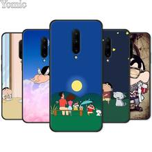 Cute Crayon Shinchan Black Case for Oneplus 7 7 Pro 6 6T 5T Silicone Phone Case for Oneplus 7 7Pro Soft Cover Shell