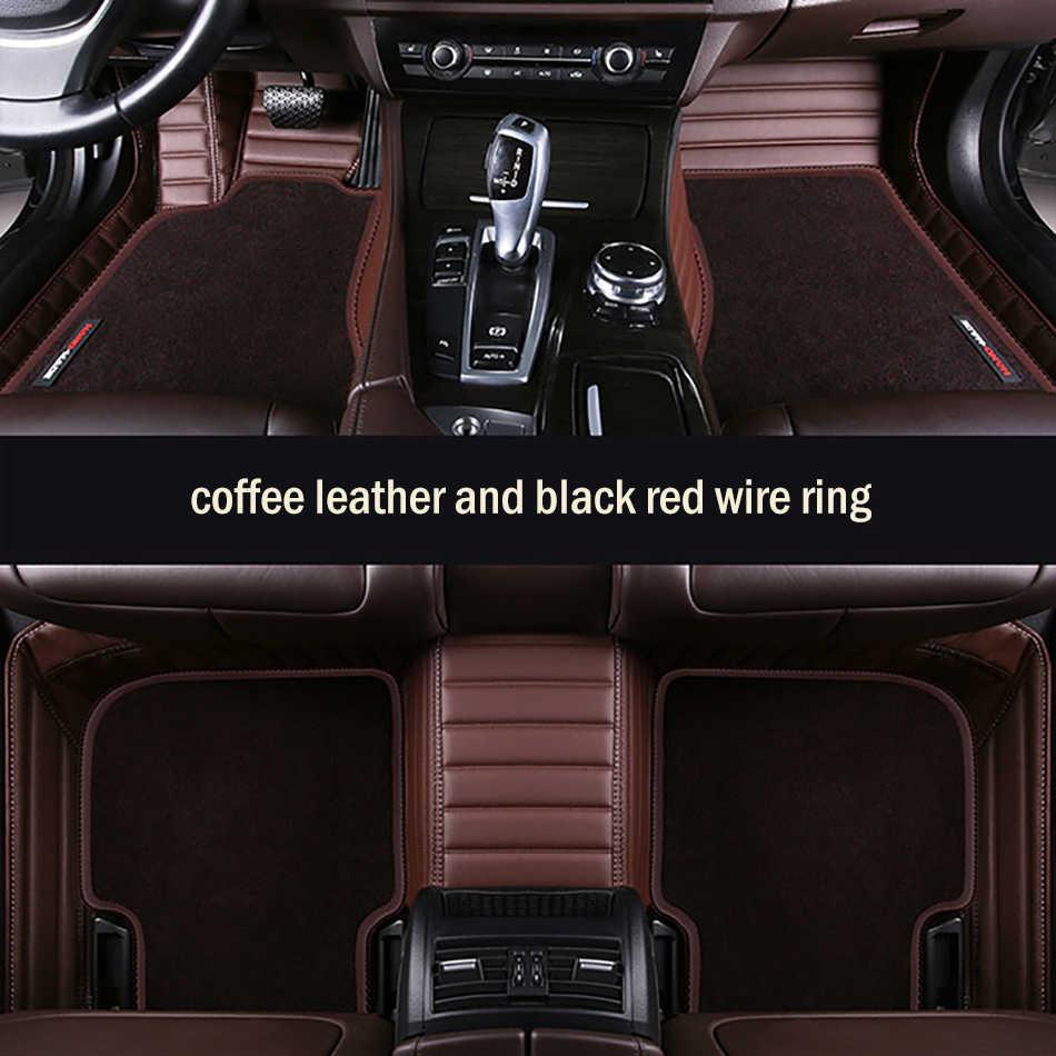 HLFNTF de doble alfombra del coche para ford Modelo enfoque festivo fiesta F800 fusión Explorer Taurus de cable de coche -estilo