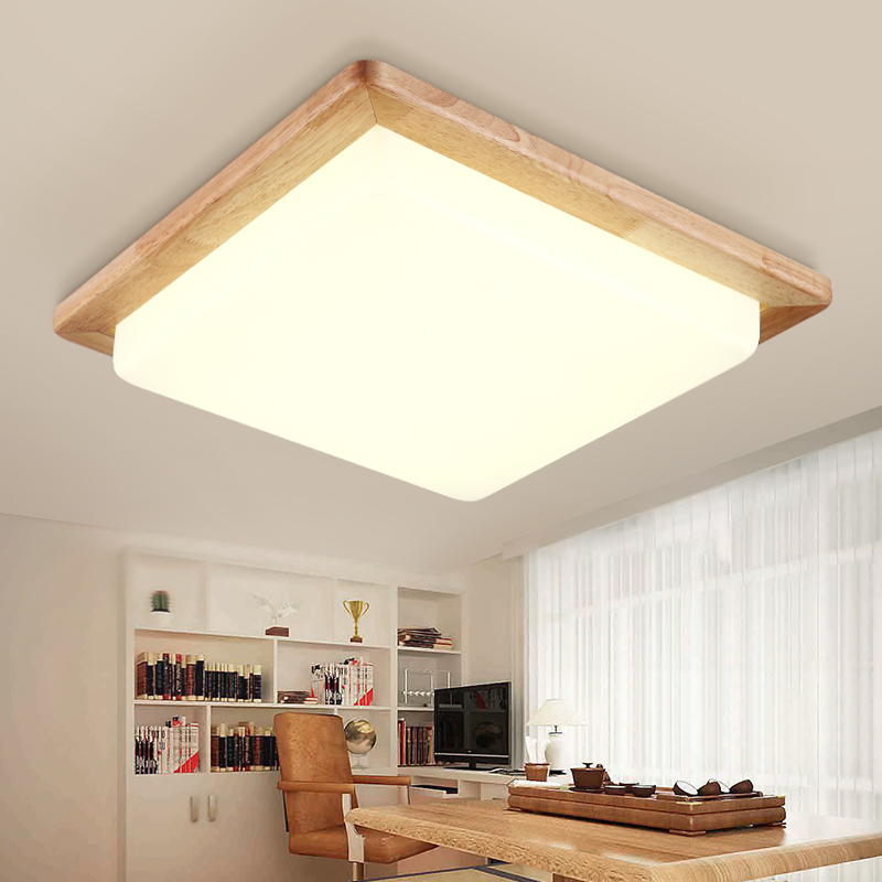 Solid Wooden Ceiling lamp square wood logs Nordic Japanese lighting hall balcony porch lamp NEW bedroom lamp MZ131 simple style ceiling light wooden porch lamp square ceiling lamp modern single head decorative lamp for balcony corridor study