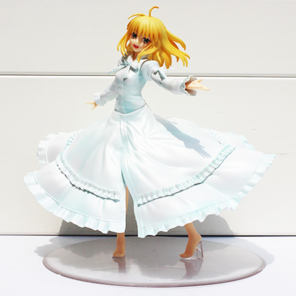 Fate/Stay Night Saber Action Figure Last Episode Girl Gift Toys Figurine PVC Figuras Anime Saber Figure Figma Doll Model PM