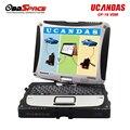 Оригинал WI-FI Полный Система ВДМ UCANDAS Автомобиля Диагностический Инструмент Ucandas ВДМ V3.9 Полный Комплект + Программное Обеспечение + CF-19 Ноутбук DHL бесплатно