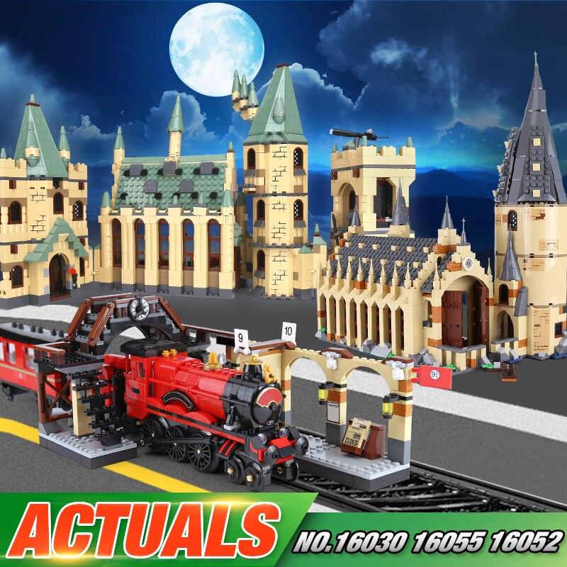 Educativos 16030, 16052, 16055, 16059 película de la serie 48042 de Hogwarts Castillo bloques de construcción ladrillos Asamblea chico juguetes de Navidad