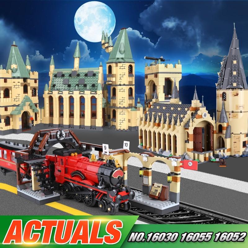 Lepin 16030 16052 16055 16059 Série de Filmes A 48042 Hogwarts Castelo Conjunto Tijolos de Blocos de Construção Montagem Criança Brinquedos de Natal