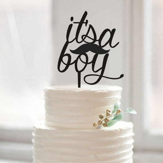 Pleasant It Is A Boy Birthday Cake Topper Little Man Cake Topper Baby Cake Funny Birthday Cards Online Ioscodamsfinfo