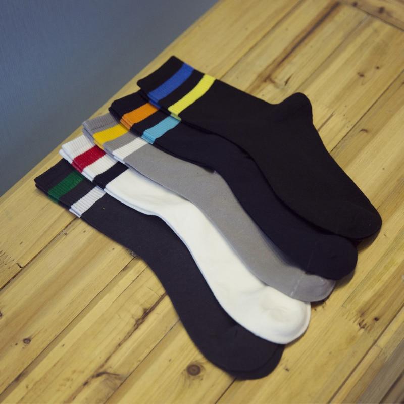 Japanese Korean in tube socks Man socks color stripe cotton sock EUR39-44