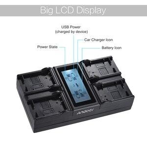 Image 5 - Andoer NP FW50 NPFW50 4 قناة LCD كاميرا رقمية بطارية شاحن أجهزة سوني A7 A7R A7sII A7II A6500 A6300 A7RII NEX سلسلة