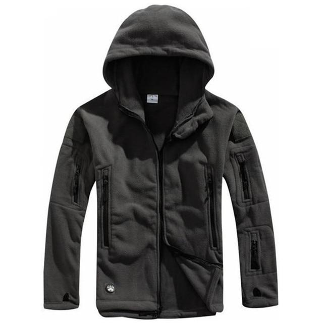 Winter Tactical Jacket Military Uniform Soft Shell Fleece Hoody Jacket Men Thermal Clothing Casual Hoodies 2