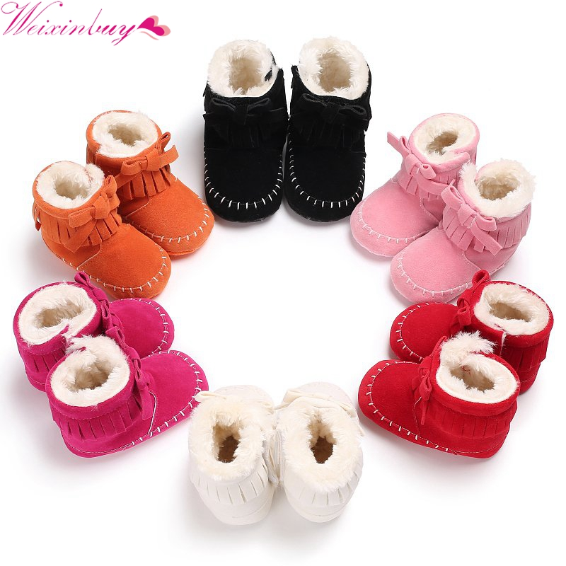 2017 Winter Baby Booties Kids Shoes for Girls Baby Cotton Boots Newborn Cotton Toddler Fashion Warm Snow Shoe 0-18M