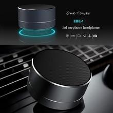 Wireless Bluetooth Speakers LED Metal Steel Mini Portable Speaker Smart Hands Free Speaker FM Radio Bass boombox Support SD Card
