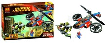 Bela 10240 Super Heroes Series Spider-Helicopter Rescue Minifigures Building Block Minifigure Toys Best Toys