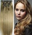 """Frete grátis grosso 10 Pcs set 16 """" - 32 """" 120 g - 220 g 100% brasileira remy grampos de cabelo em / sobre extensões de cabelo humano # 10 ash brown"""