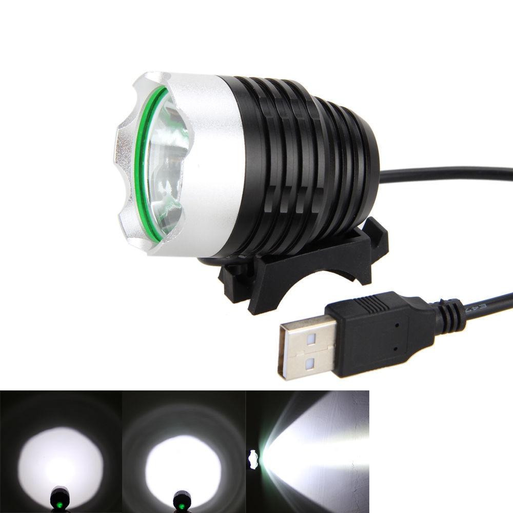 LED USB հեծանիվ լույս T6 L2 լեռնային - Հեծանվավազք - Լուսանկար 2
