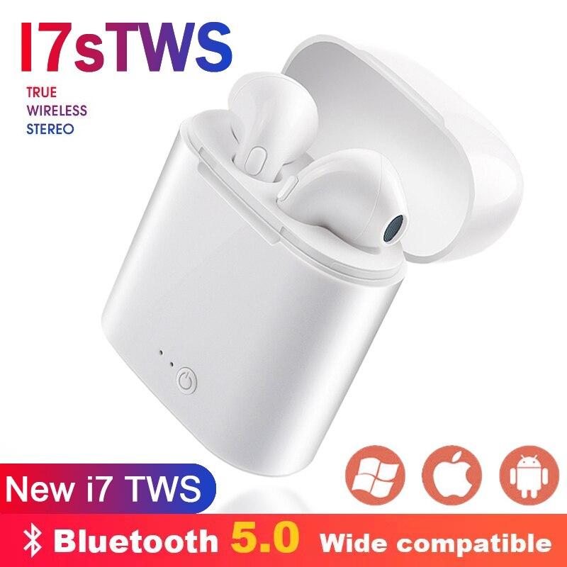 i7s TWS Wireless Bluetooth Earphones 5.0 Mini Stereo Earbud Headset Headphones Microphone For iPhone 7 8 XiaoMi Smart Phonei7s TWS Wireless Bluetooth Earphones 5.0 Mini Stereo Earbud Headset Headphones Microphone For iPhone 7 8 XiaoMi Smart Phone