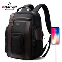 BOPAI Multifunction Large Capacity Laptop Backpack Anti Theft Fashion Men Shoulders Bag Travel Backpack Waterproof Drop Shipping
