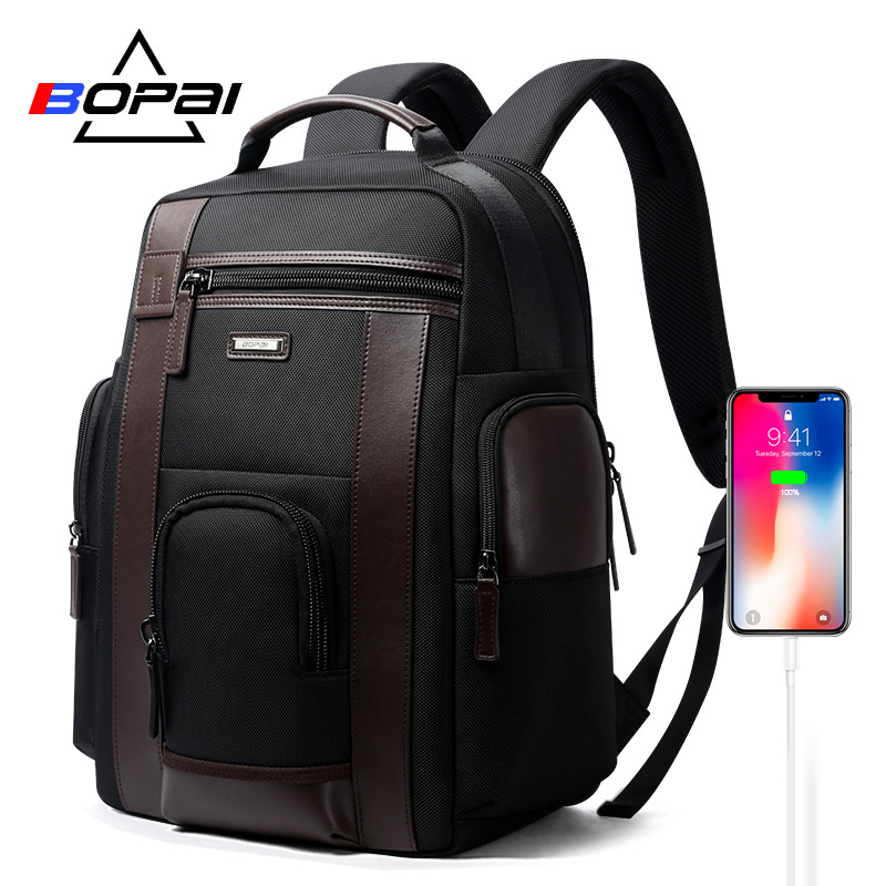 BOPAI Multifunction Large Capacity Laptop Backpack Anti Theft Fashion Men Shoulders Bag Travel Backpack Waterproof Drop Shipping in Backpacks from Luggage Bags