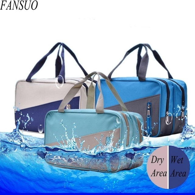 Wet And Dry Separation Men Travel Toiletry Bags Women Waterproof Cosmetic Bag Wash Cosmetics Organizer Beautician Makeup Bag