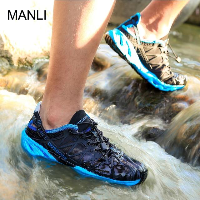 MANLI 2019 Summer Men Women Climbing Shoes Wear Resistan Breathable Non-slip Outdoor Hiking Sneakers Unisex Walking Sport Shoes