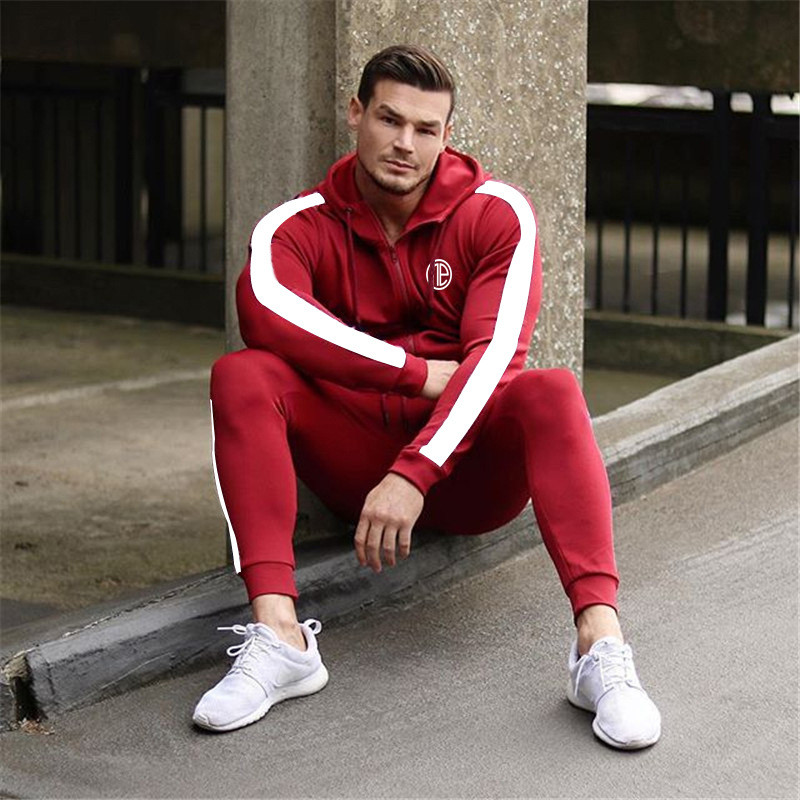 Running Tracksuit Sport Gym Men Set Sports Top (2)