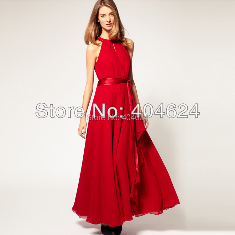 Free Shipping Women Solid Sleeveless Boho Dress Belt Long Maxi Dress Trendy Elegant Pleated Chiffon Pleated Beach Bohemia Dress