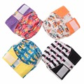 JinoBaby Cloth Diaper Super Absorbency Bamboo Pocket Diaper One Size Fits Newborn to 33 Pounds