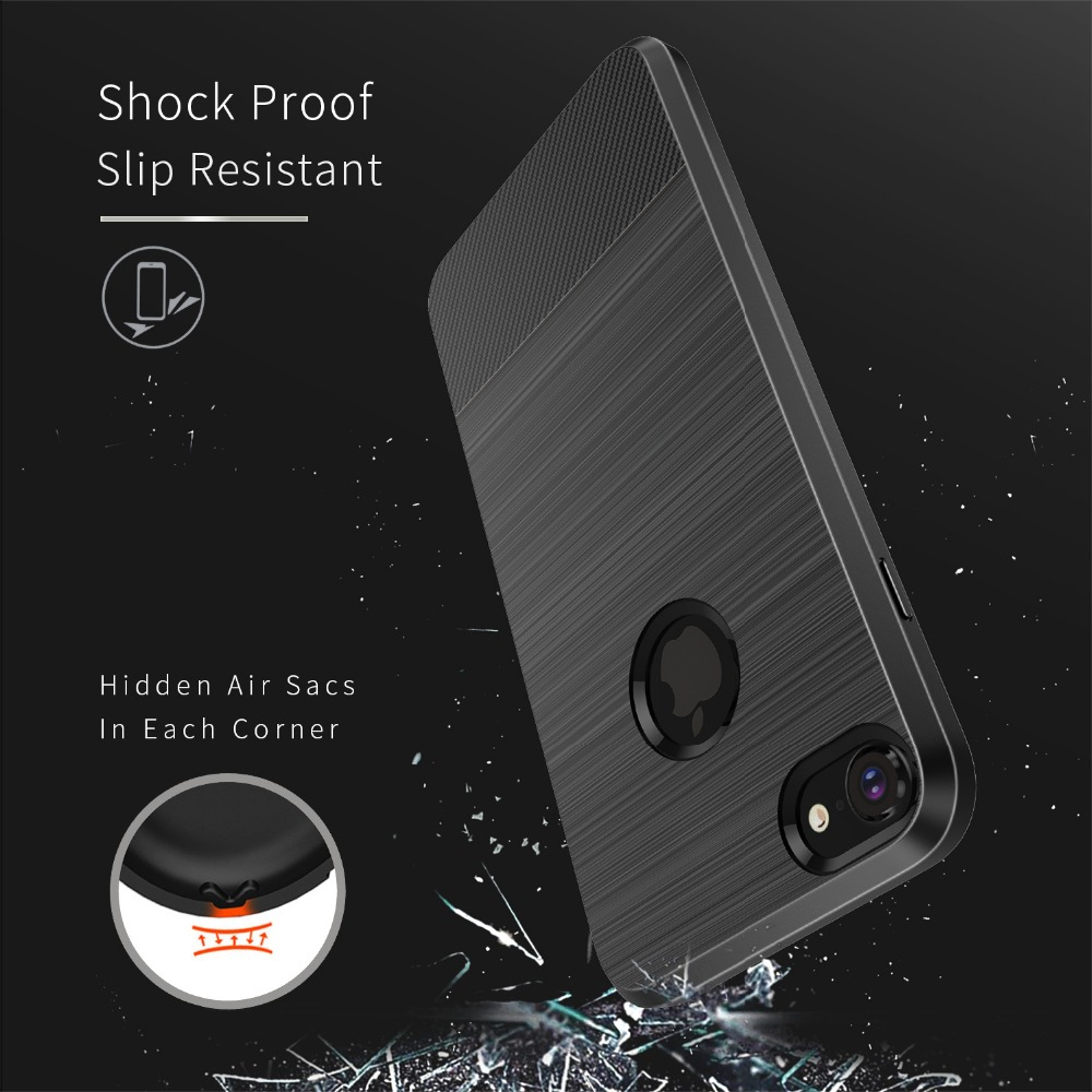 Silicone Shockproof Case For iphone 7 8 Case iphone7 Car Magnetic Soft TPU Back Cover For iphone 7 8 Plus Coque Funda