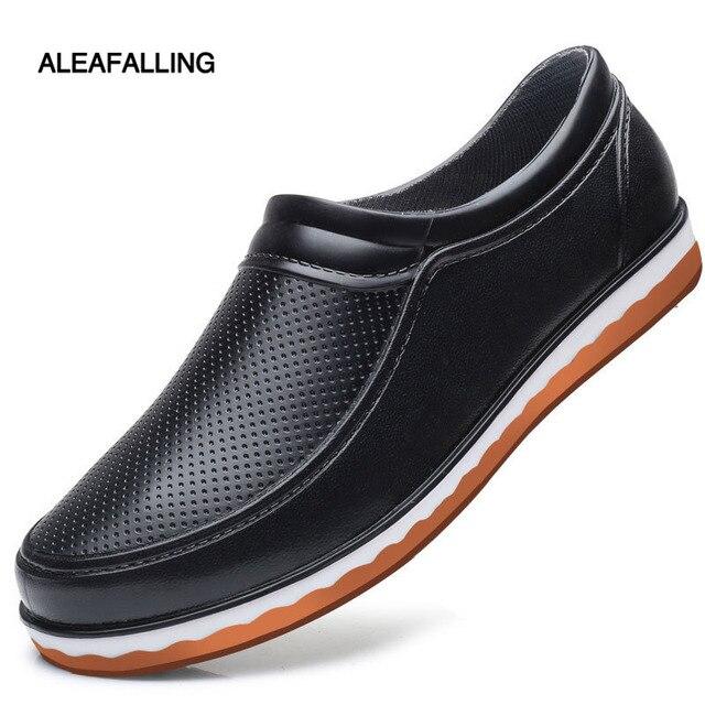 Aleafalling Unisex de las mujeres de la moda Botas de lluvia tobillo corto al aire libre relájate calle 5 Estilo impermeable chica zapatos de la lluvia de W191