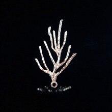 50 шт. листья ветка с листьями Подвеска из легированной стали ожерелье браслет Шпилька заколка для волос Декор Аксессуары винтажный пояс для одежды DIY
