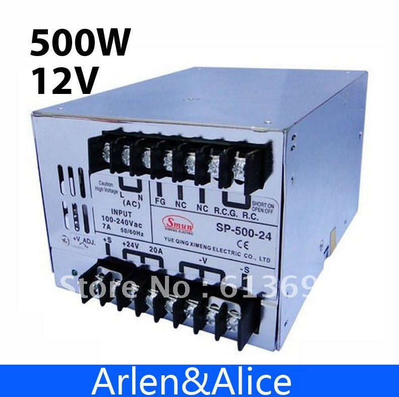 15v ac dc sp 75 15 single output with pfc function input fully range switching power supply SP500W 12V 40A with PFC Single Output Switching power supply for LED Strip light AC to DC