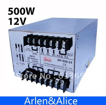 SP500W 12V 40A with PFC Single Output Switching power supply for LED Strip light AC to DC