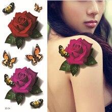 Free Shopping 3D Rose Fake Tattoo Sticker Sex Products Waterproof Temporary Tattoo Sticker Flash Tattoos