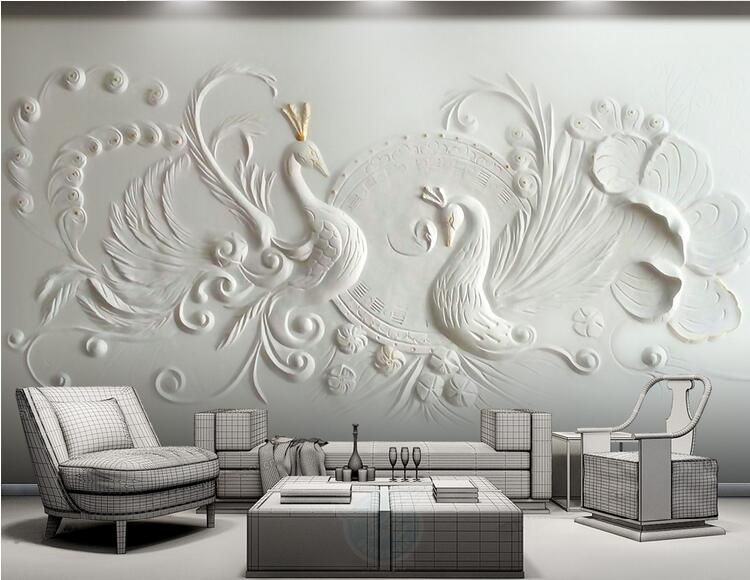 Peacock Murals 8d Papel Mural Wallpaper 3d Wall Mural for Living Room background 3d wall photo murals Wall paper 3d Wall sticker custom photo wallpaper 3d wall murals balloon shell seagull wallpapers landscape murals wall paper for living room 3d wall mural