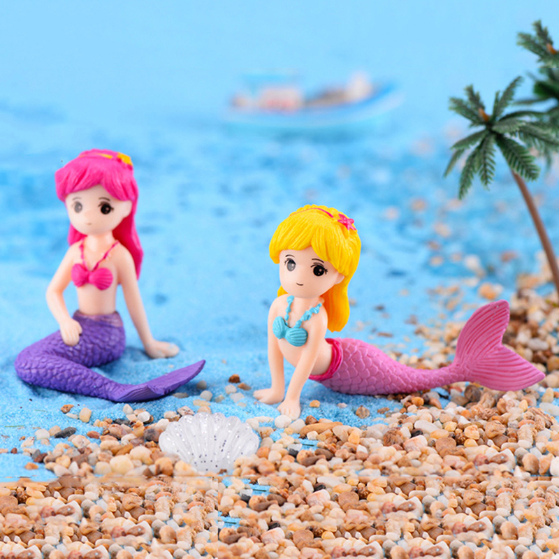 Sexy Mermaid Fairy Garden Miniatures Gnomes Moss Terrariums Resin Crafts Figurines For Home Decoration Mini Figures