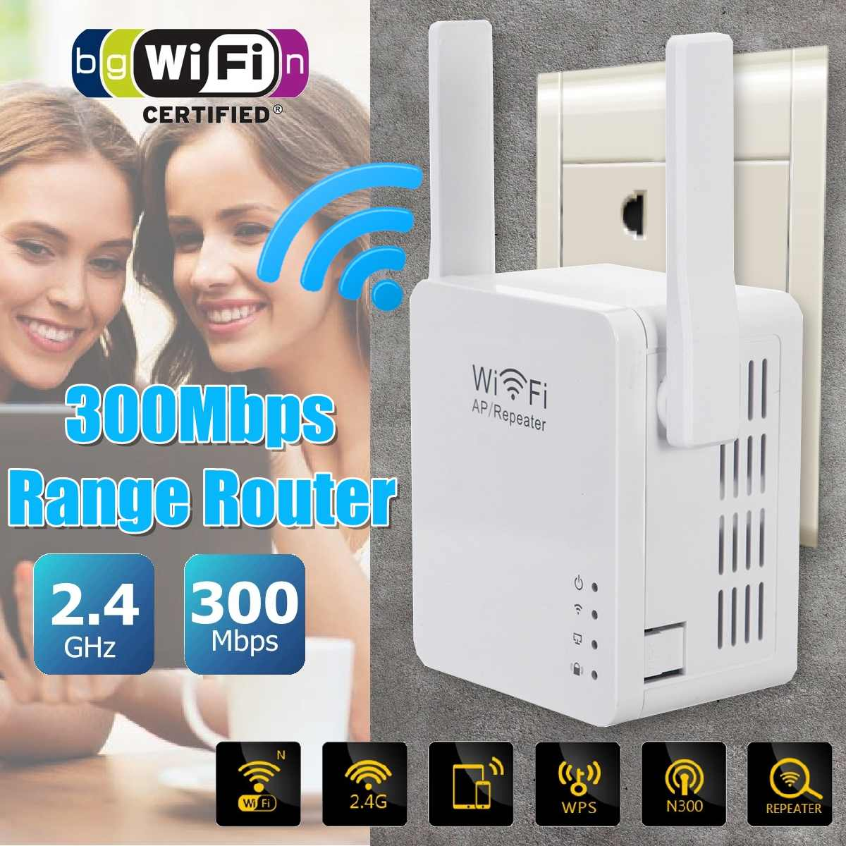 LEROY Wireless WiFi Repeater Wifi Extender 300Mbps Wi-Fi Amplifier 802.11N/B/G Booster Repetidor Wi Fi Reapeter Access Point