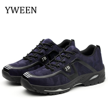 YWEEN Men Safety & Work Boots Spring Autumn Breathable Steel Toe Shoes Anti-piercing Protection Footwear